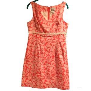 Lilly Pulitzer Pink Slice Fruit V-neck Shift Dress